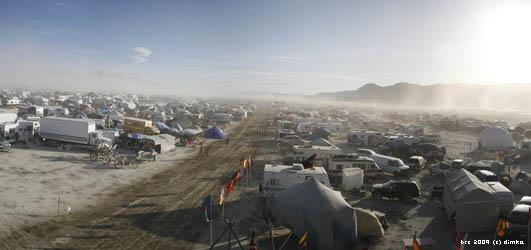 BRC outer city - Burning Man Festival 2009