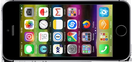 my iPhone SE black